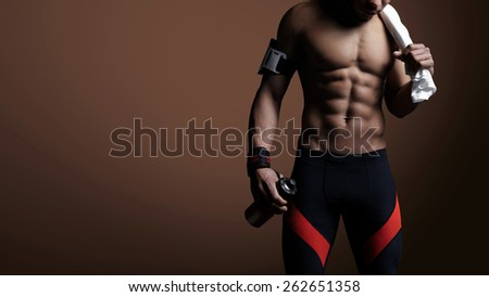 Young athlete - stock photo