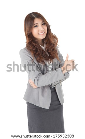 Young attractive Asian businesswoman - stock photo