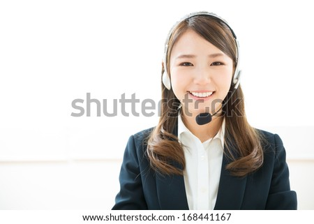 young attractive asian woman who works as an operator