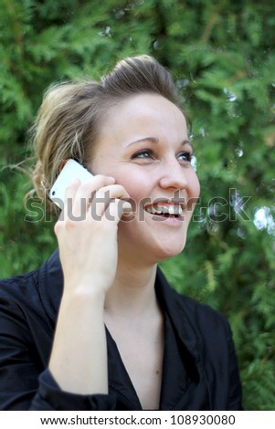 Young Attractive Businesswoman On the Phone - stock photo