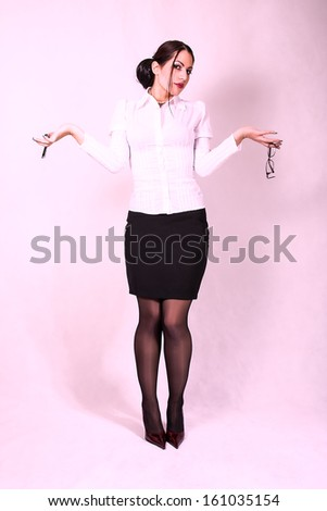 young attractive secretary