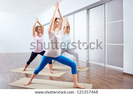 Young attractive woman do yoga