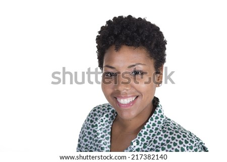 Young attractive woman isolated - stock photo