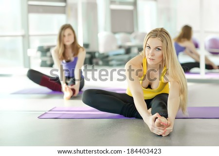 Young attractive woman practicing yoga. series