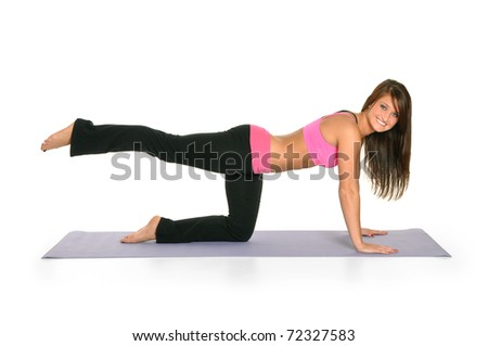 Young attractive woman working out