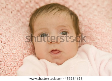 young baby portrait, studio picture - stock photo