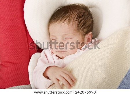 young baby sleeping, studio picture