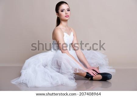 Young ballet dancer. Ballerina - stock photo