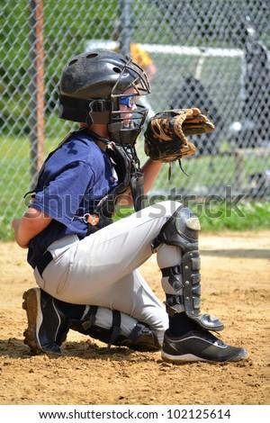 young baseball player - stock photo