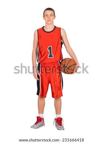 Young basketball player - stock photo