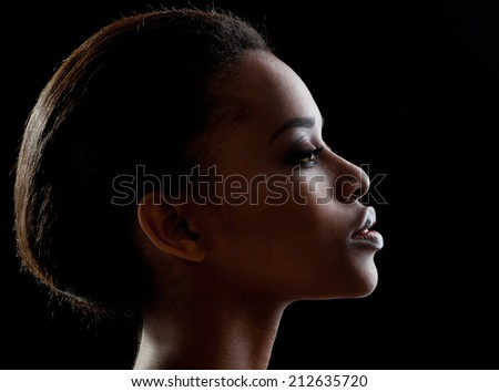 Young beautiful African descent woman. - stock photo