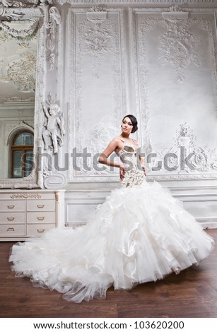 Young beautiful bride - stock photo