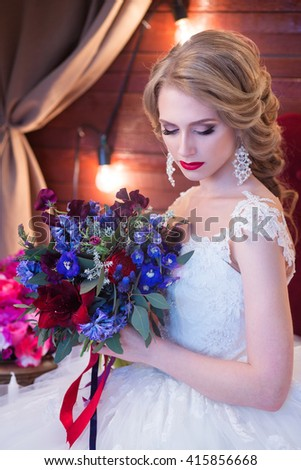 Young beautiful bride, wedding