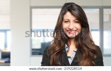 Young beautiful businesswoman portrait - stock photo