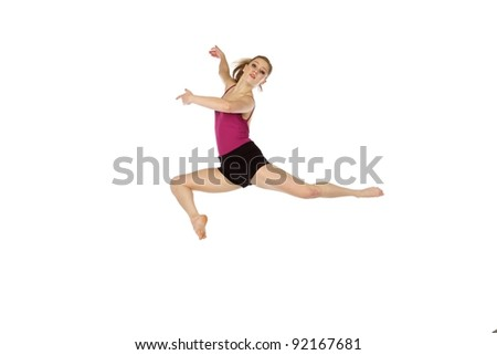 Young beautiful contemporary dancer