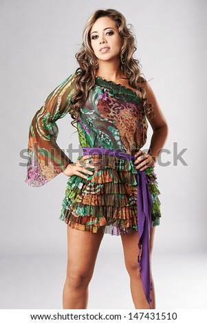 Young beautiful fashion woman - stock photo