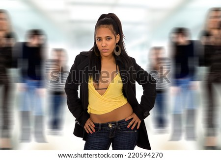 young beautiful fashion woman portrait - stock photo