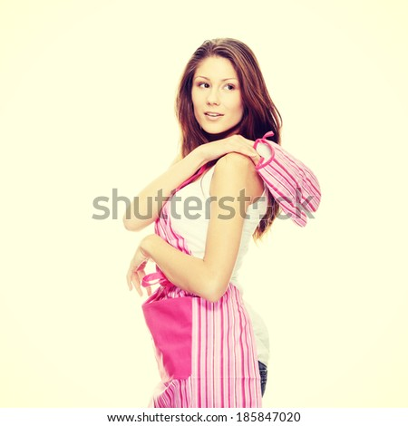 Young beautiful female cook - stock photo