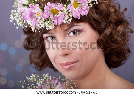 young beautiful girl with flowers