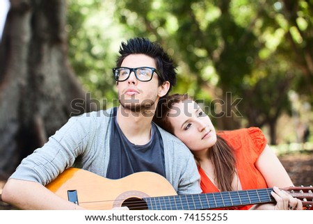 Young beautiful Lover - stock photo