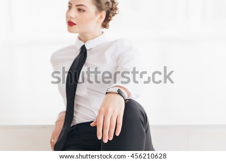 young beautiful office worker portrait