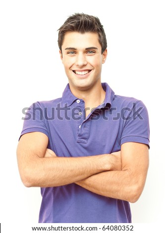Young beautiful personal trainer - stock photo
