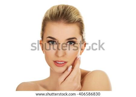 Young beautiful spa woman. - stock photo