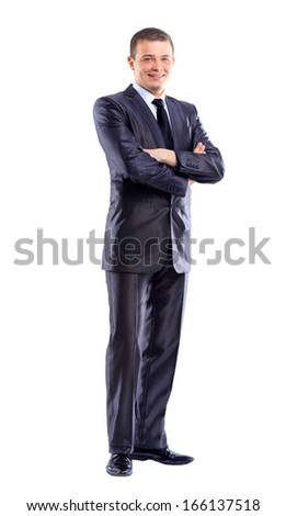 Young, beautiful, successful businessman. - stock photo