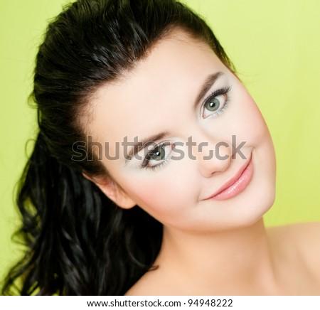 young beautiful woman - stock photo