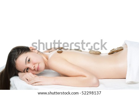 young beautiful woman in a spa