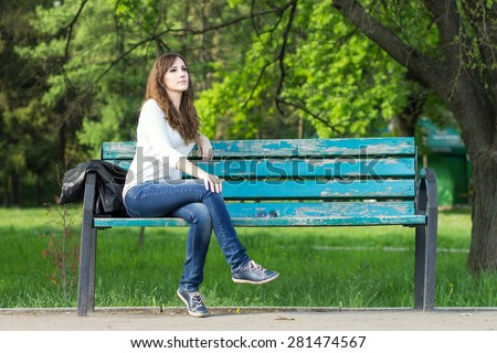 stock photo young beautiful woman sitting on bench in park pretty girl at outdoors on summer day nature 281474567 Making Searching Placements For Your Marriage Easier