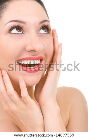 young beautiful woman smiles