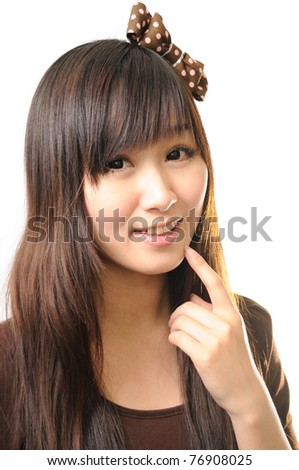 young beautiful woman with creativity hairstyle - stock photo