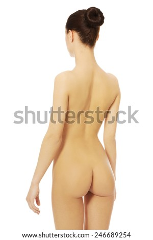 Young beauty fit nude women. - stock photo