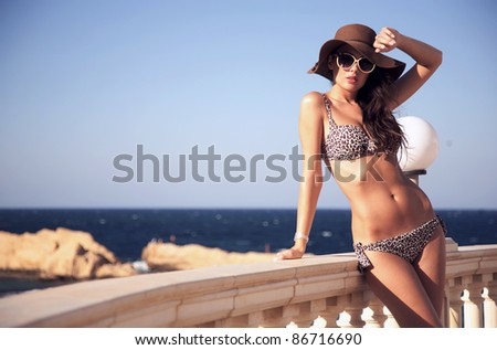 Young beauty on vacation day - stock photo