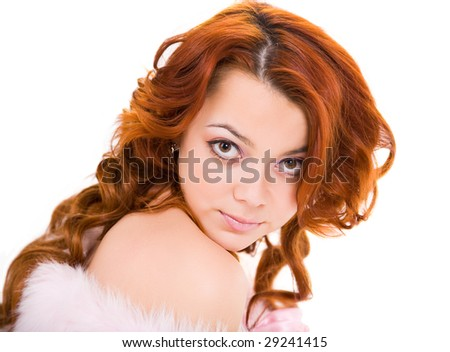 young beauty sensual woman with long hair - stock photo
