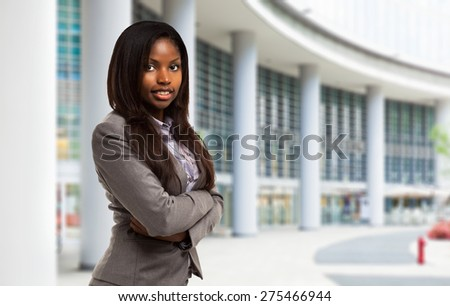 Young black businesswoman portrait - stock photo