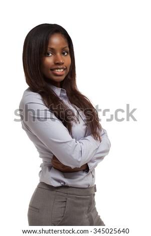 Young black businesswoman portrait - stock photo