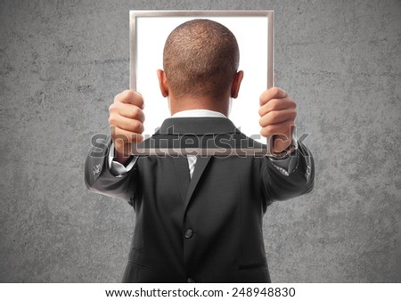 young black man close up - stock photo