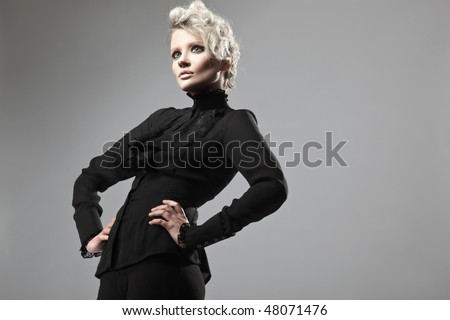 Young blonde posing - stock photo