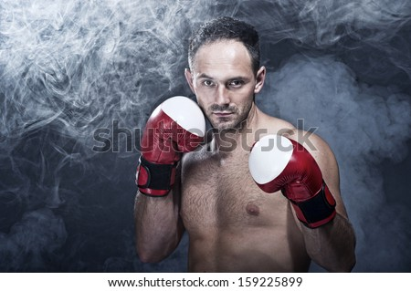 Young Boxer fighter