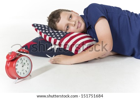 Young boy is sleeping soundly - stock photo