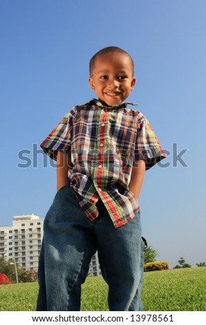 Young Boy Modeling - stock photo