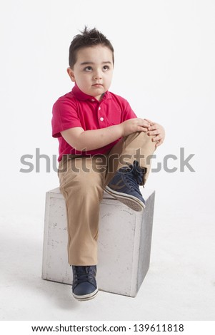 young boy playing - stock photo