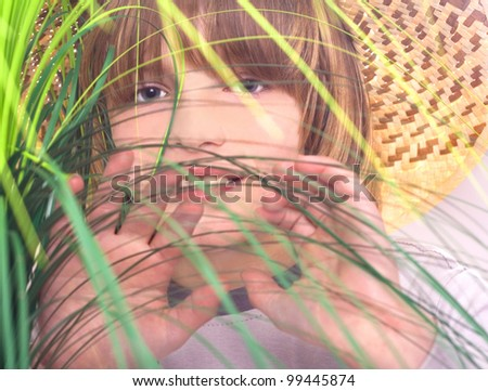 young boy scout - stock photo