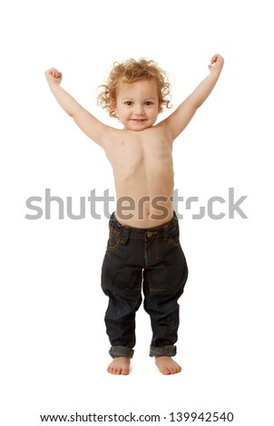 Image result for picture of a 2 year old little boy showing his biceps