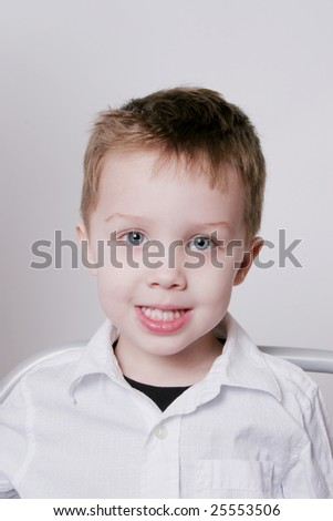 Young boy with his smile