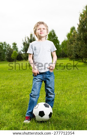 Young boy with soocer ball