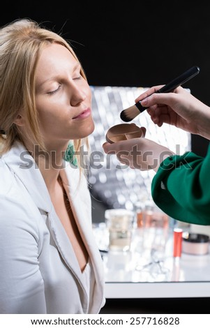 Young bride preparations to the wedding