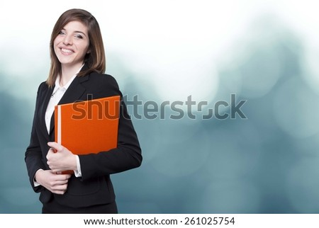 young business girl on background